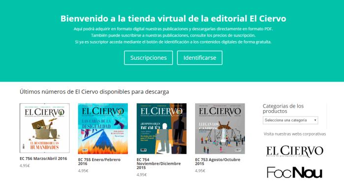 Tienda virtual de El Ciervo